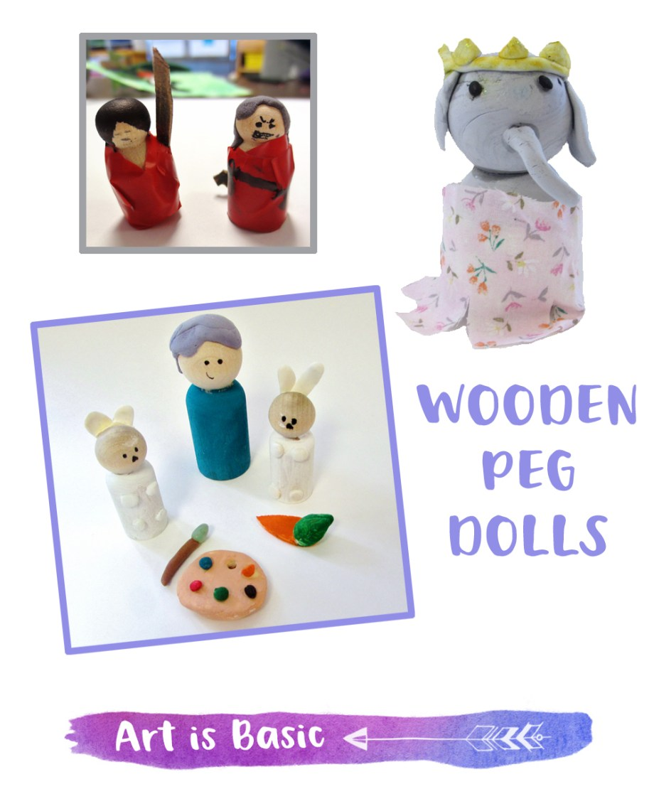 Wooden Peg Dolls for Kids