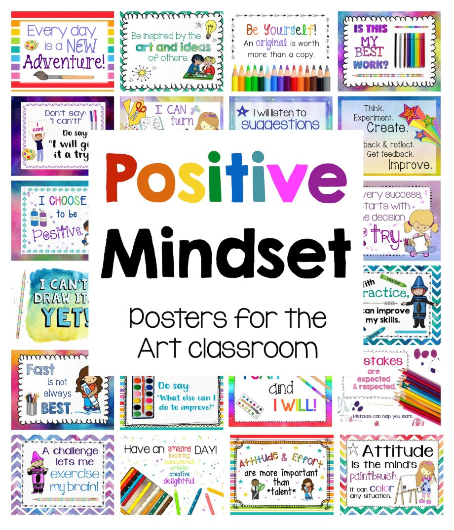 Positive Mindset Posters for the Art room
