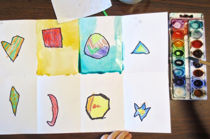 Kindergarten Shape Art Project00001