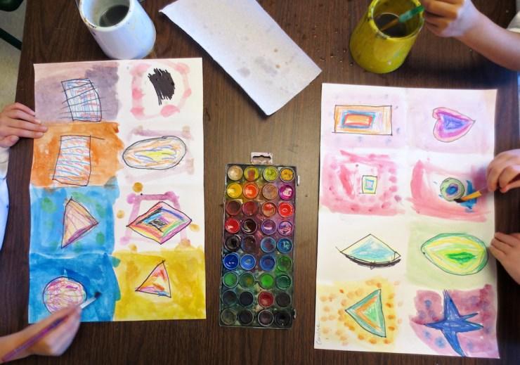 Kindergarten Shape Art Project00007