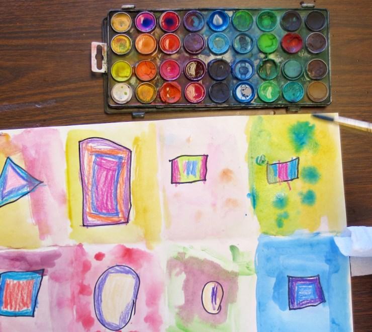 Kindergarten Shape Art Project00009