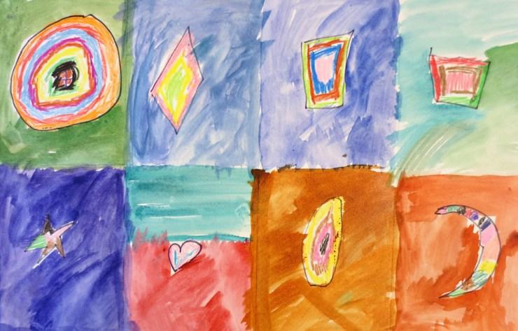 Kindergarten shape project