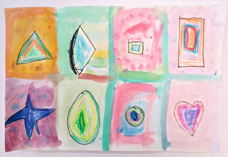Kindergarten Watercolor Shapes Art Is Basic An