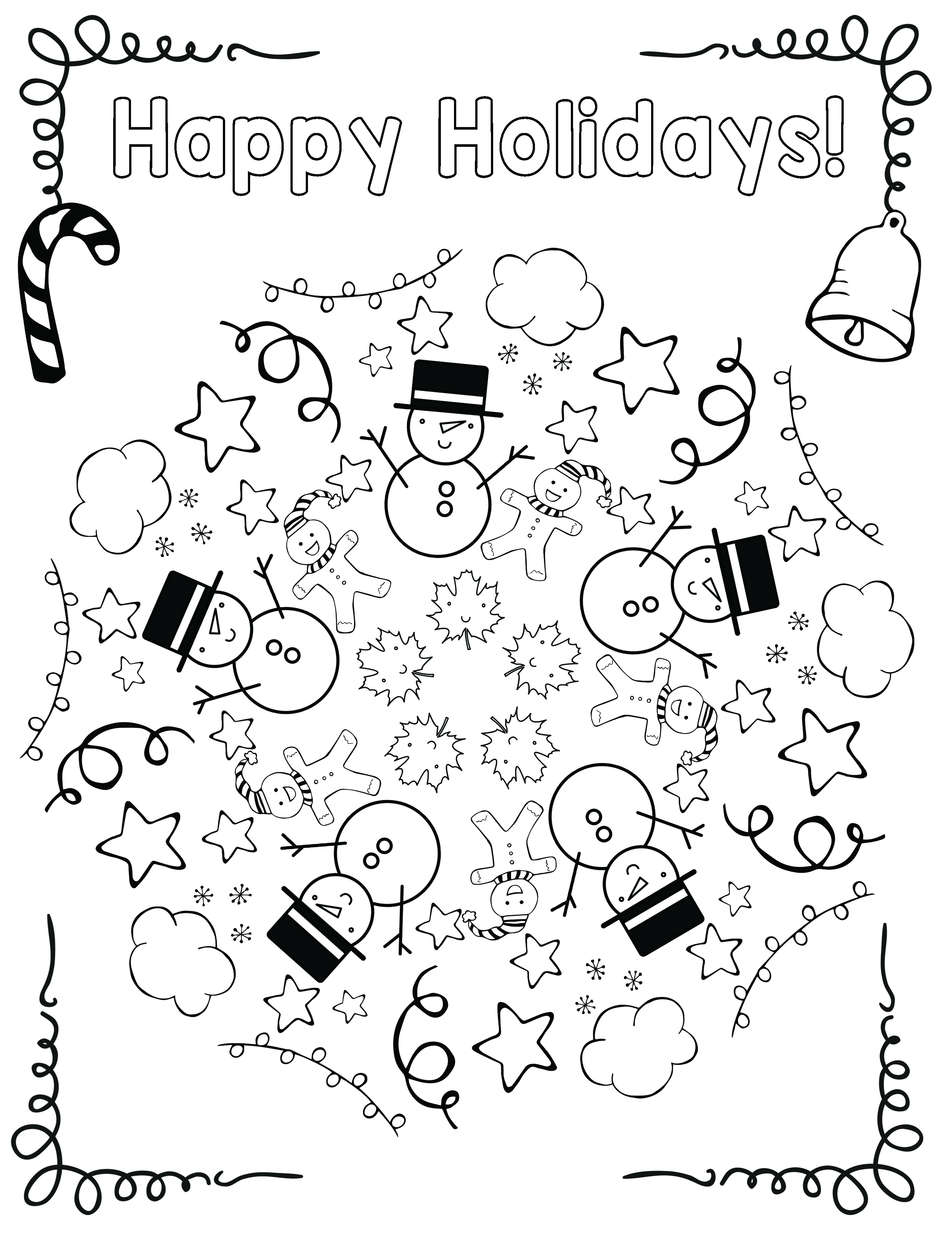 Free Holiday Coloring Mandala