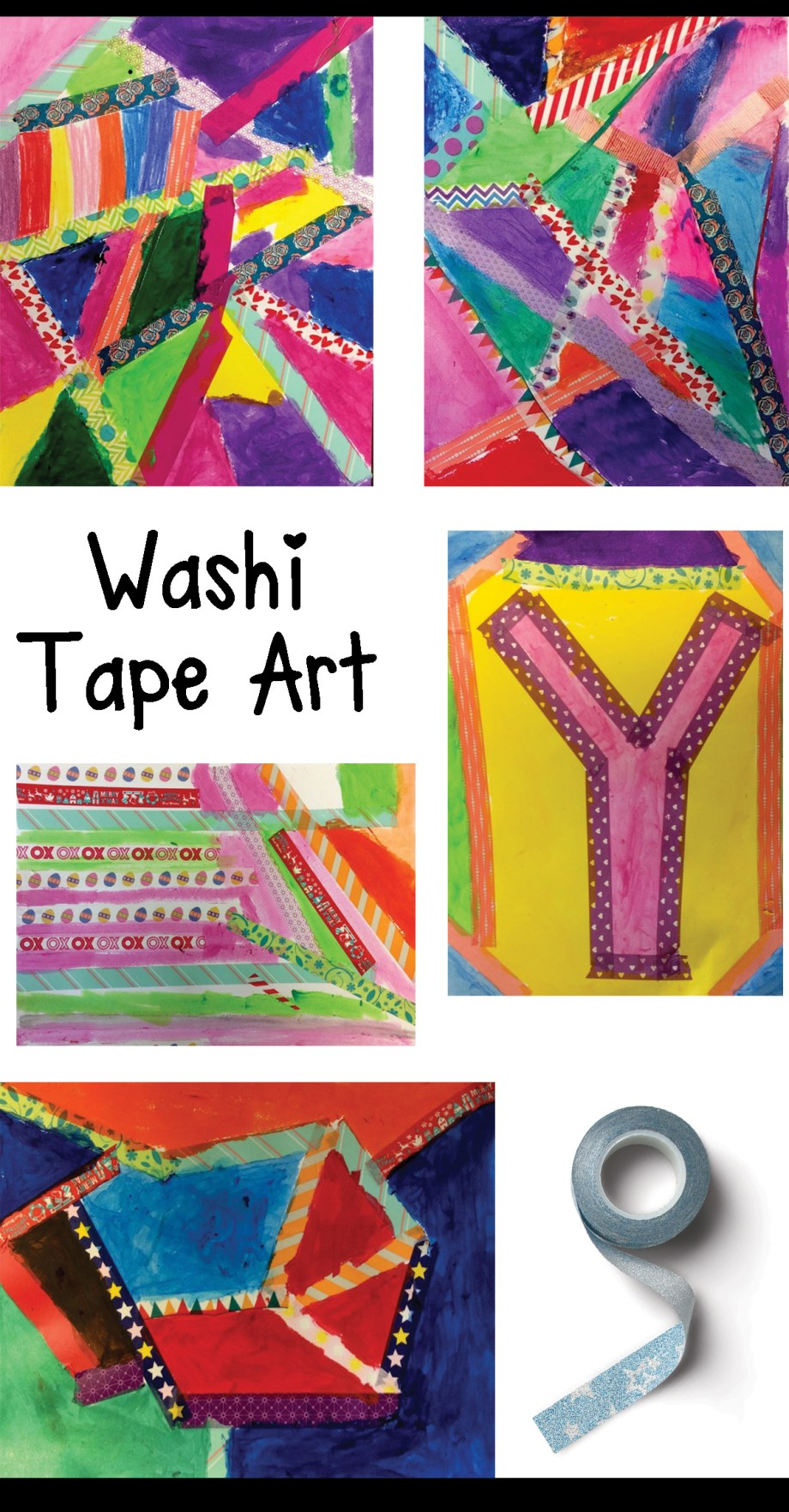 Washi Tape Art Creations Art Is Basic An Elementary