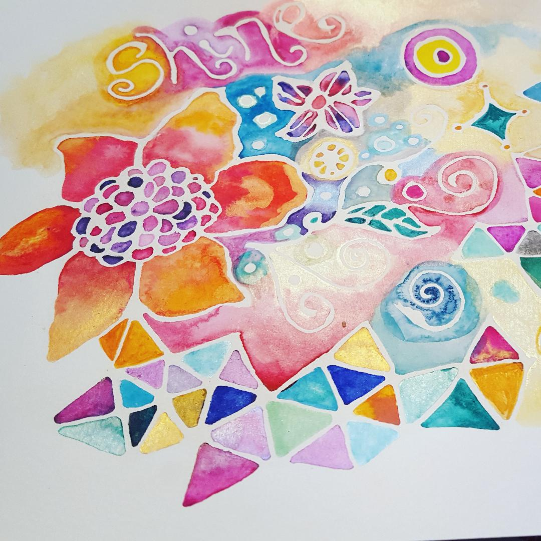 Creating White Space with Watercolor Resist Pens