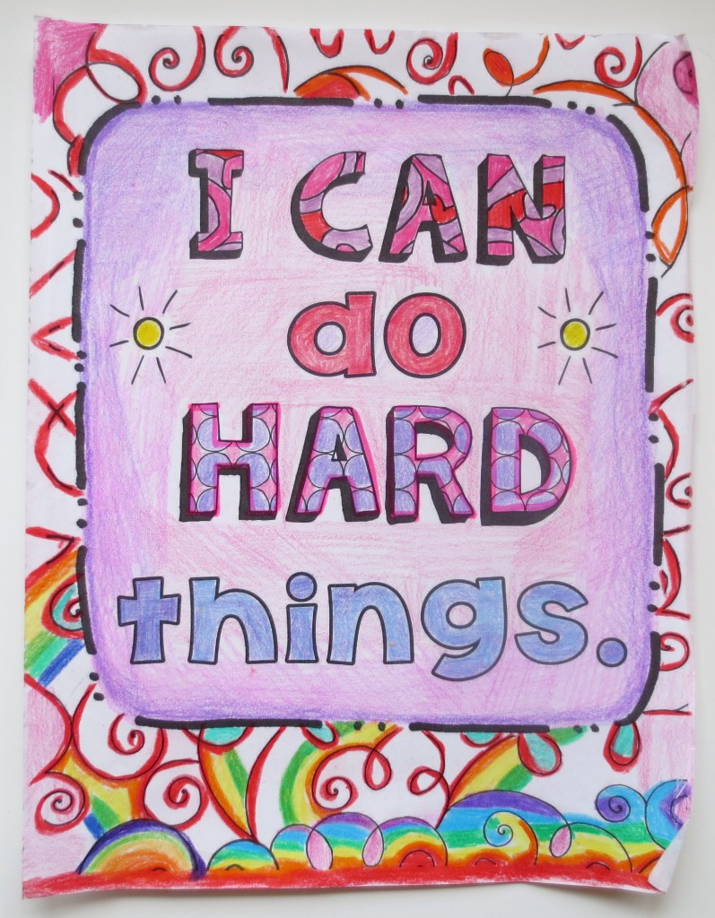 I Can Do Hard Things coloring page