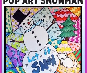 Pop Art Snowmen Project