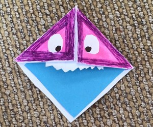 Monster Origami Bookmarks