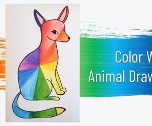 Rainbow Color Scheme Animals
