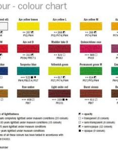 Van gogh  oil discontinued old color chart  ci pdf also charts pigment information on colors and paints rh artiscreation