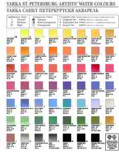 St petersburg yarka color chart for historical reference only also charts pigment information on colors and paints rh artiscreation