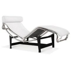 White Chaise Chair Massage Price Le Corbusier La Lc4 Lounge Leather Artis Premium Top Grain