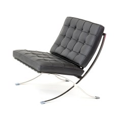 Barcelona Chair Style Couch Folding Chairs In Bulk Sofa Dwell 2 Seater