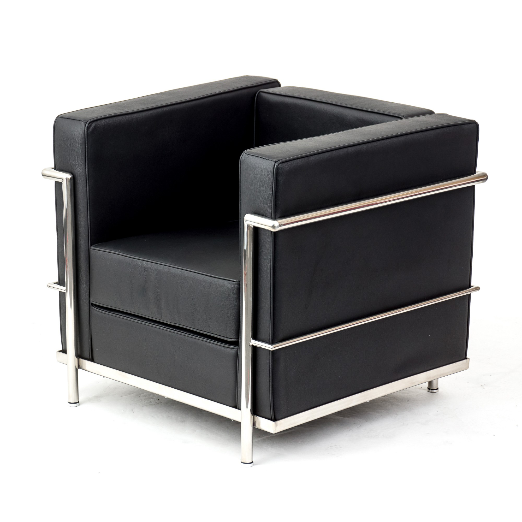 Le Corbusier LC2 Chair Sofa Black Leather  Artis Dcor