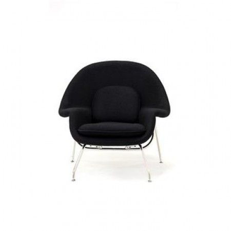 black chair and ottoman back support for chairs womb premium cashmere wool artis decor
