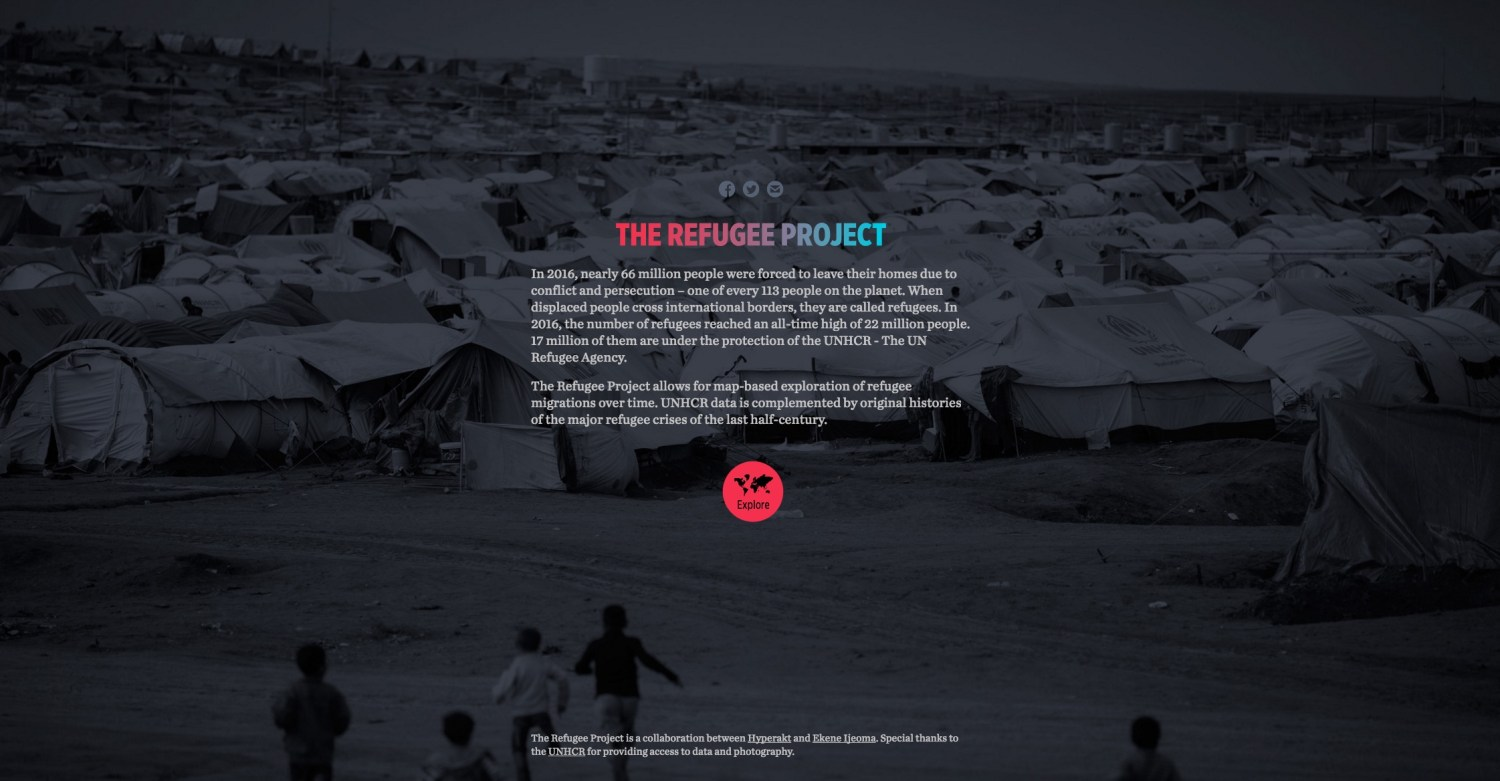 refugee project data visualization