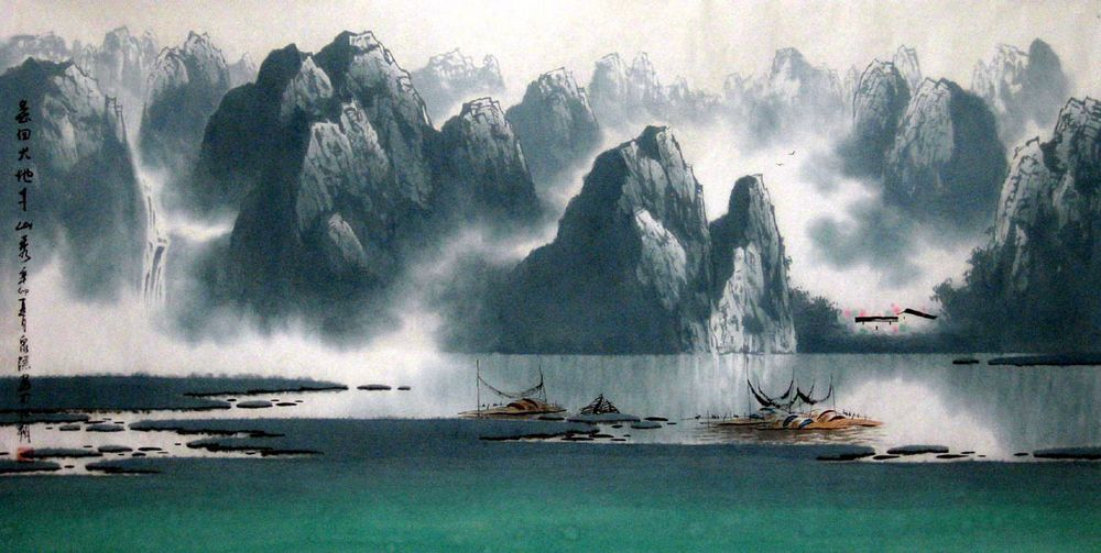 The Origin Of Chinese Landscape Painting Chinese