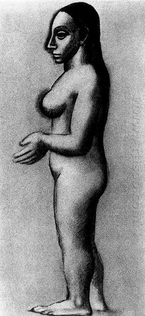 Female Nude In Profile 1906