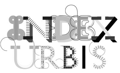 Index Urbis, the logo of the Festa dell'Architettura