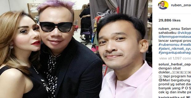 Kemesraan Femmy Permatasari dan Vicky Prasetyo Dibilang Settingan Oleh Netizen