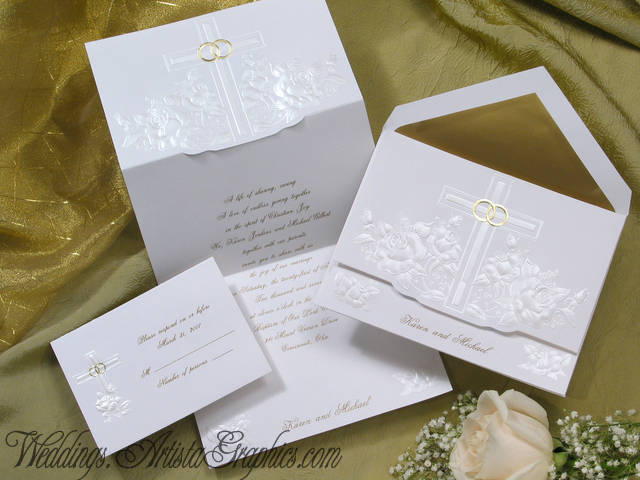 Close Up Photo Wedding Invitation 1814