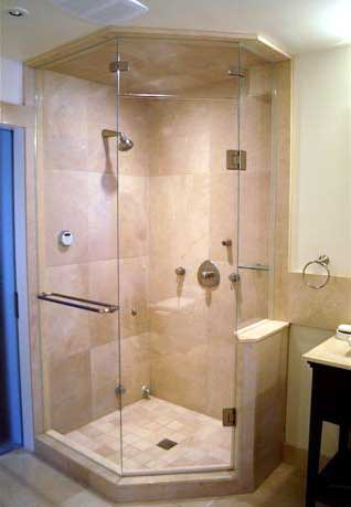 Frameless Neo Angled Shower Enclosures Glass To Ceiling  ArtistCraftcom