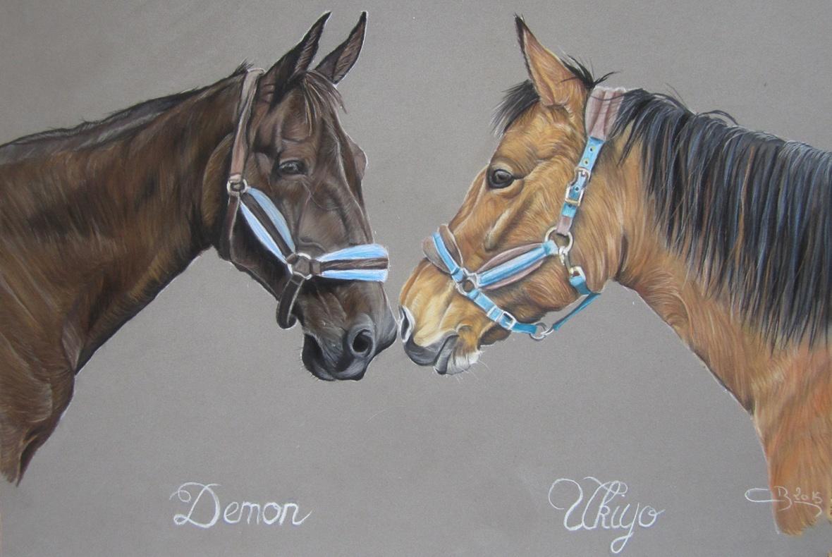 chevaux pastels