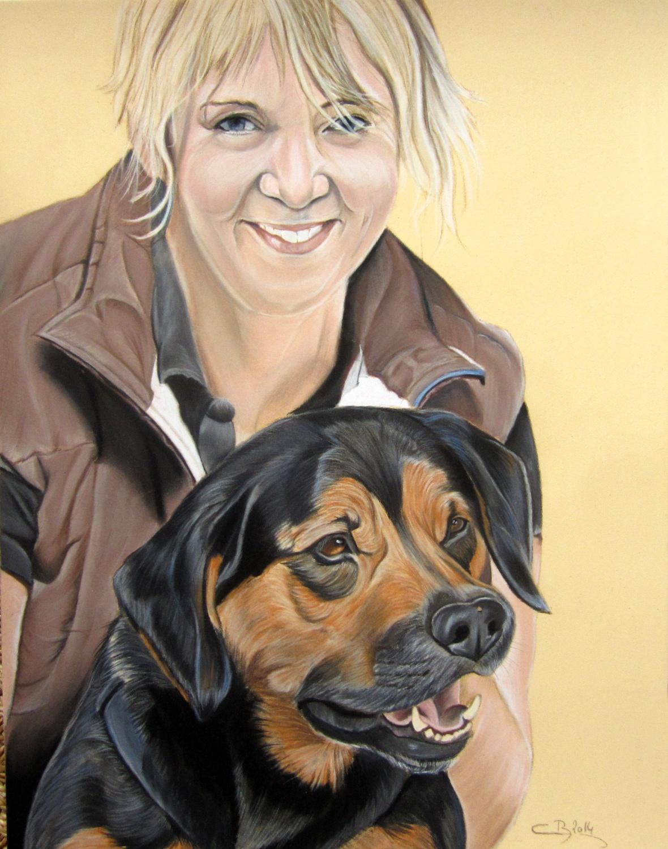 portrait maitresse chien