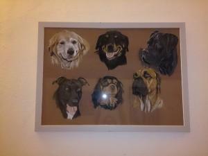 chiens pastel