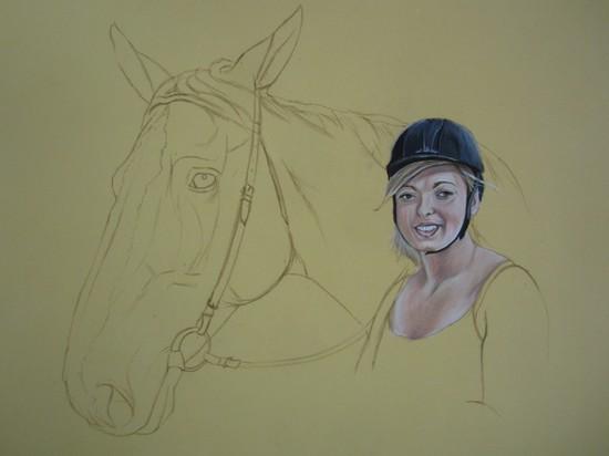 dessin cheval cavaliere