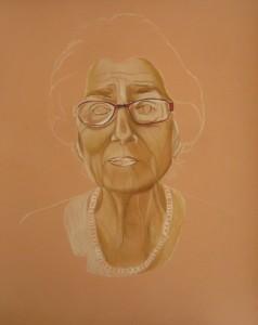 portrait crayons pastels