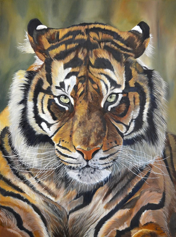 tigre à la peinture à l'huile en vidéo - Comment Faire Secher De La Peinture A L Huile
