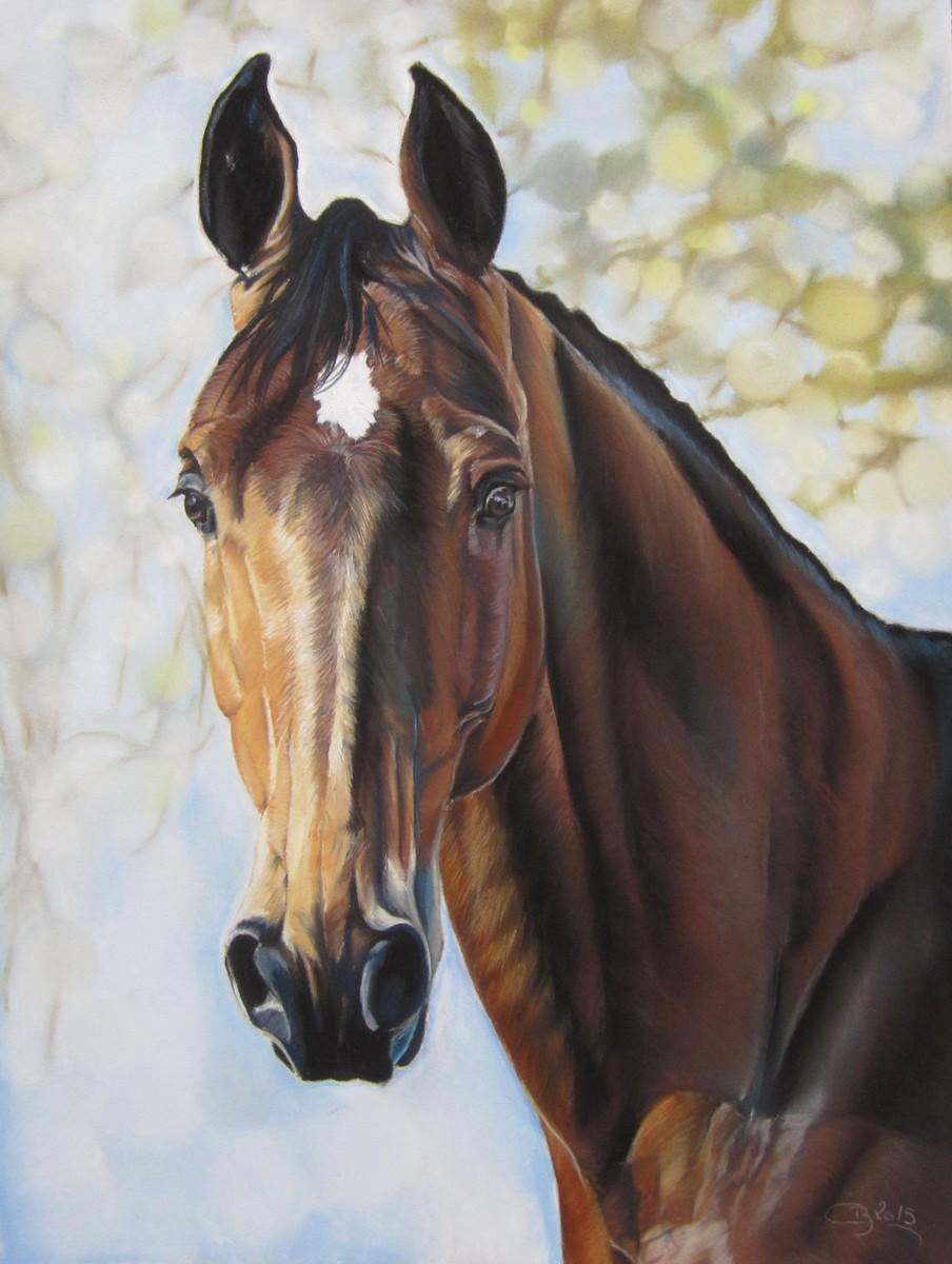 cheval aux pastels secs