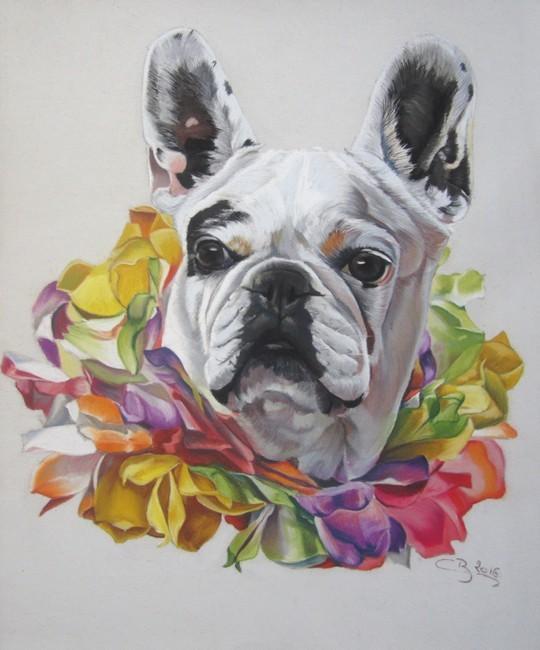 portrait de bouledogue