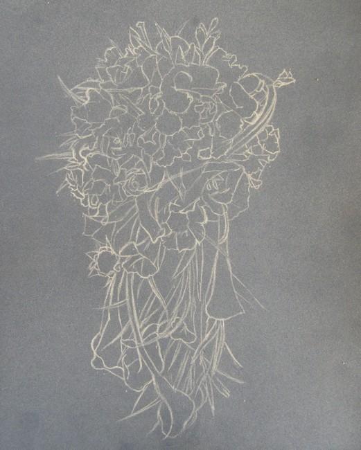 dessin bouquet fleurs