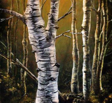 peindre tronc arbre