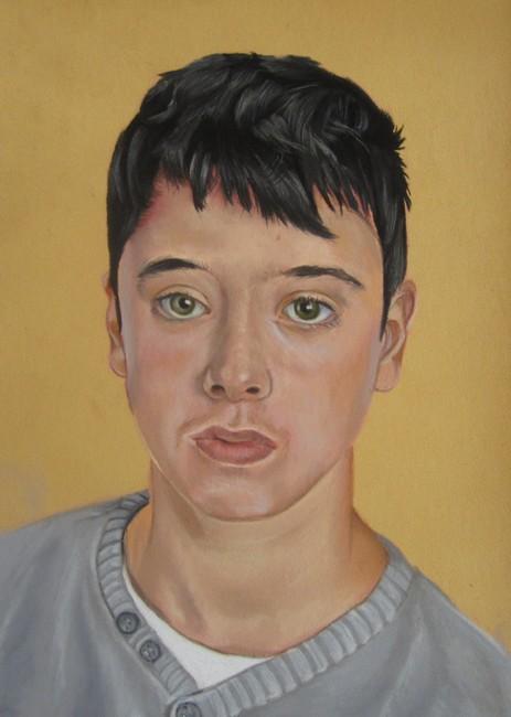 portrait homme pastel sec