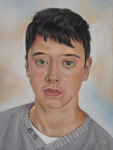 portrait homme pastel