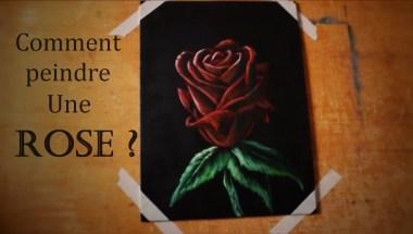 comment peindre une rose