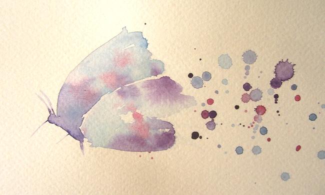 papillon aquarelle