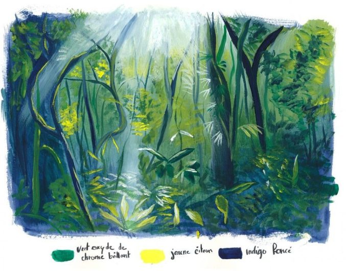 jungle gouache