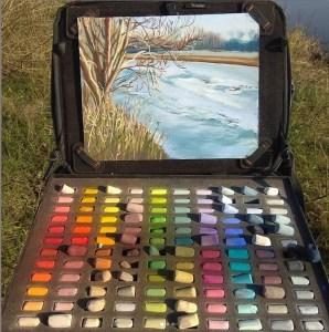 art satchel pastel