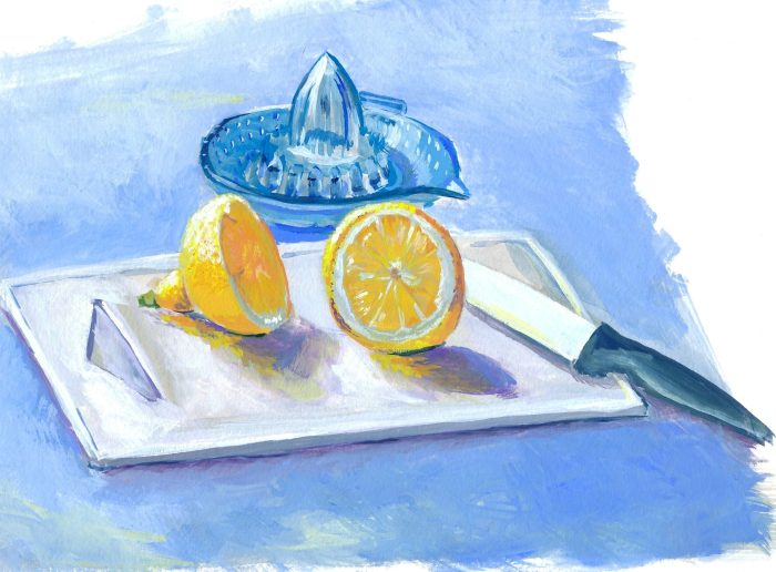 gouache citrons
