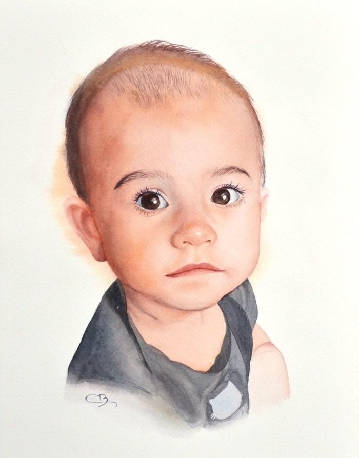 bébé aquarelle