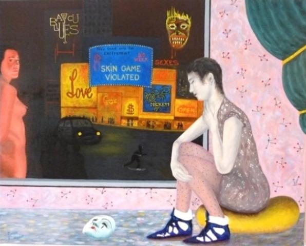 BLANQUET Pierre-Le rêve-Huile-65 x 81 cm