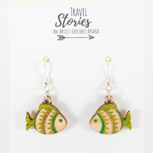 Small fish earrings Front View