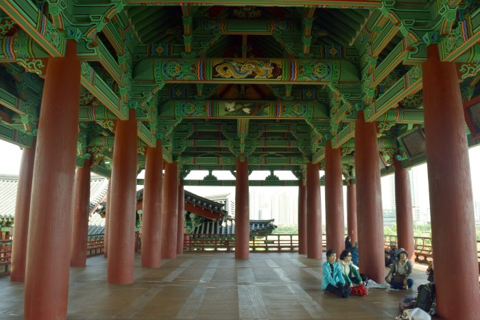 Inside the Pavilion at taehwagang river grand park