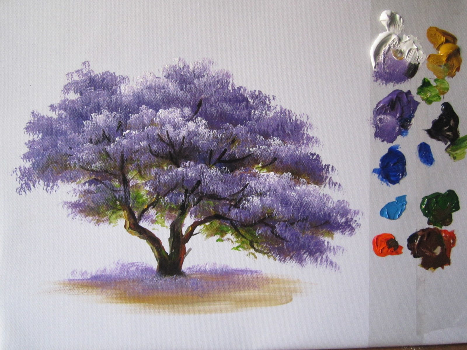 My Painting Process How to paint a tree in acrylics