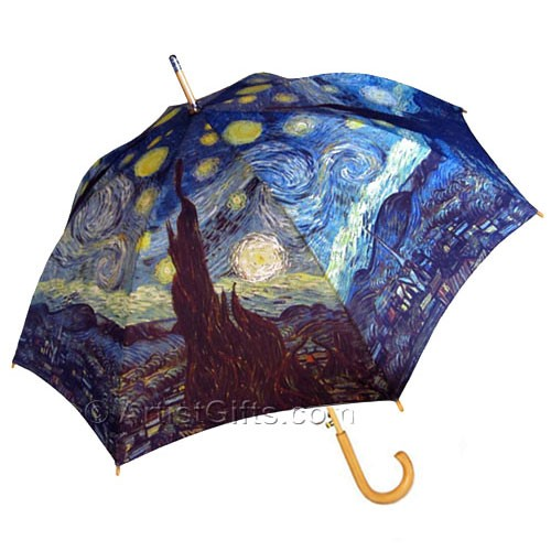 Van Gogh Starry Night Umbrella Stick Style